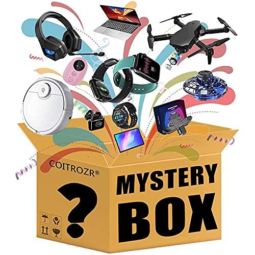COITROZR Caja misteriosa Niza Regalos Los Últimos, se Puede Abrir: Drones, Relojes Inteligentes, Teléfonos Móviles, etc, Cualquier Cosa Posible