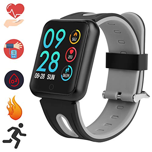 Bluetooth Smartwatch, Fitness Uhr Intelligente Armbanduhr Fitness Tracker Smart Watch Sport Uhr mit Kamera Schrittzähler Schlaftracker Romte Capture Kompatibel mit Android Smartphone (P68 Schwarz)