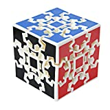 Maomaoyu Gear Cube 3X3 3x3x3 3D Gear Cubo Shift Velocidad Puzzle Cubo Magico Blanco