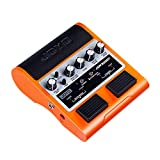 JOYO Jam Buddy Dual Channel Electric Guitar Effect Pedal Amp with 2 x 4W Bluetooth 4.0 Speaker of Practice Guitar Amplifier Effect Pedal (Orange)