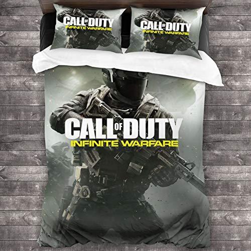 Infinite-Warfare Comfortable 3-Piece Bedding Set 86'X70' Bed Sheets Duvet Cover Pillowcases Bedspread