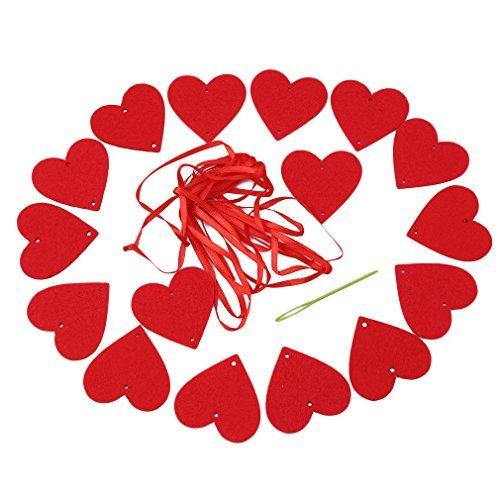 VWH Coeur Guirlande Lumineuse Banderole Fanion Décor Suspendu Fête de Plage Soirée Porte Rideau Mariage Décor
