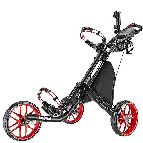 CaddyTek EZ-Fold 3 Wheel Golf Push Cart,golf trolley