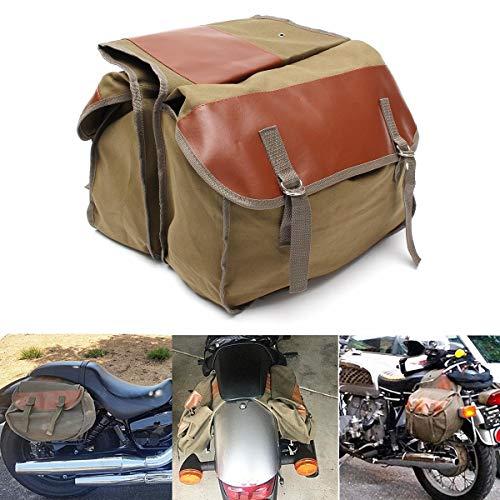 InChengGouFouX Alforjas Laterales para Moto Bolso de la Motocicleta de la Lona Bolsa de sillín del Asiento Trasero de la Cola de Caballo Mochila Uso Diario artículos Instalación Simple