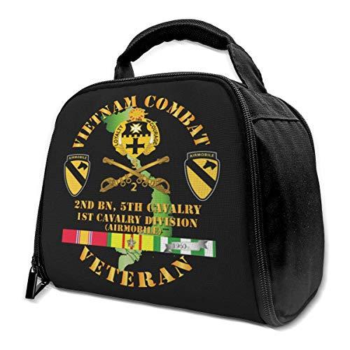 Vietnam Combat Cavalry Veteran W 2nd Bn 5th Cav Dui 1st Cav Div Isolierte Lunchtasche Kühltasche für Picknick Arbeit
