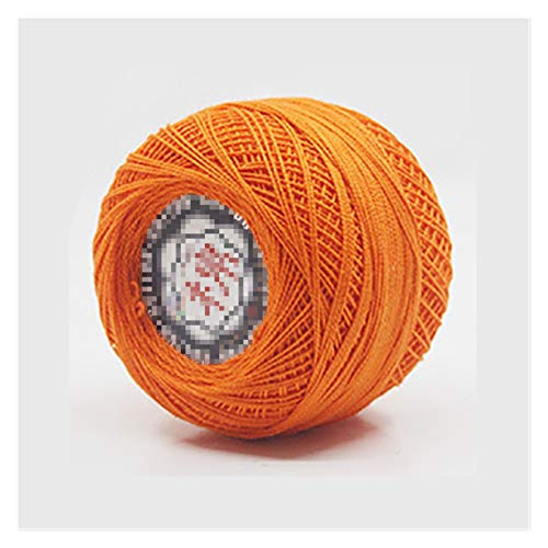 WESET 50 g/bola 2 capas colorido delgado hilado de encaje hilado de ganchillo hilo de algodón hilo...