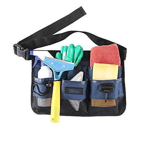 Nobrannd Garten-Werkzeug-Tasche, Garten-Werkzeug Gürteltasche Kellner Property Hygiene Reinigung Reinigen Green Storage Kit 34x23.5cm Startseite Organizer mit Taschen (Color : Cyan, Size : 34x23.5cm)