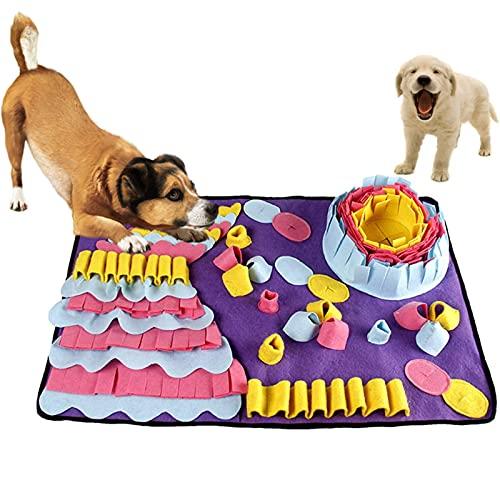 CSPone Schnüffelteppich für Hunde und Katze Schadstofffreies Hundespielzeug Intelligenzspielzeug für Hunde Dog Spiel Hundespielzeug Intelligenz Langlebig und maschinenwaschbar (2#)