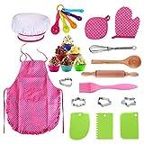QPY 25 pcs Ensemble de Cuisine et de pâtisserie pour Enfants Comprend...
