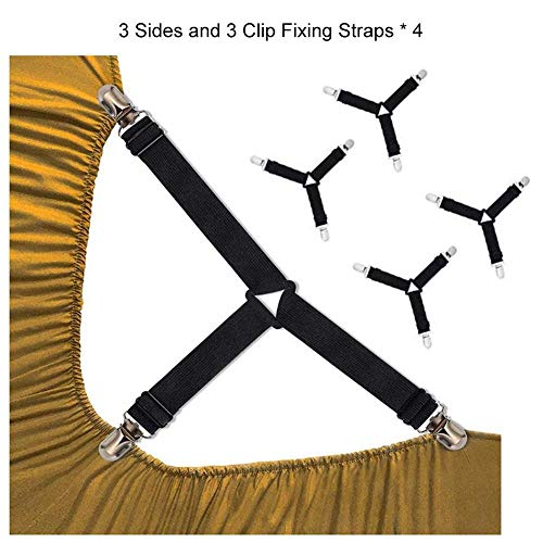youngfate Clip Befestigungsgurte Elastizität 4SPC Bettlakenclip Bettlaken Mit Bettbezug Befestigt