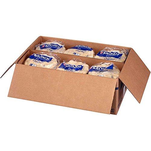 Kronos Frozen Original Flat Authentic Pita Bread, 6 inch -- 120 per case.