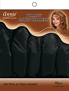 Annie Pillow Satin Rollers, Large, 10 Count