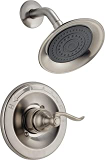 Delta Faucet Windemere Single-Function Shower Trim Kit with Single-Spray Shower Head, Stainless BT14296-SS (Valve Not Included)