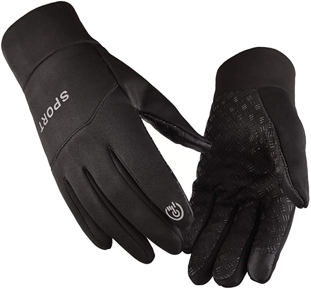 Stoota Fashion Men Keep Warm Point Finger Windproof Gloves, Thermal Warm Knit Touch Screen Lining Mittens