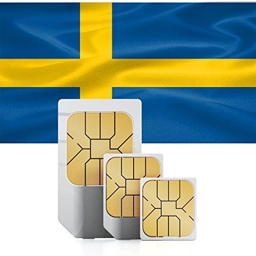 TravSIM Zweden Prepaid data SIM kaart - Standaard, Micro & Nano SIM, 8GB