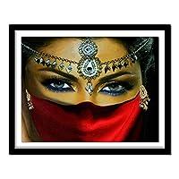5Dダイヤモンド絵画クロスステッチダイヤモンドパターンラインストーンの写真針仕事ダイヤモンド工芸品仮面の女性