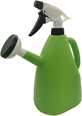 Multi-Function Dual-Use Household Watering Can, Manual Adjustable Garden Accessories Pouring Kettle Sprayer - 1L Green,Balcony Disinfection