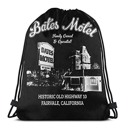 Bolsas con cordón Psycho Bates Motel Familiar y Operado Unisex Mochila con...