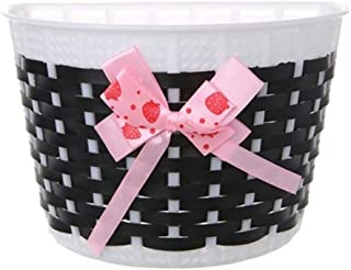 BESPORTBLE Kids Bicycle Basket with Bowknot Kids Front Bike Accessory Kids Bicycle Accessories (Pink)