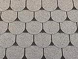 Isolbau Dachschindeln 12 m² Biberschindeln Grau (4 Pakete) Schindeln Dachpappe Bitumenschindeln Gartenhaus Vogelhaus Holz Kaninchenstall Betonsäulenüberdeckung Hundehütte