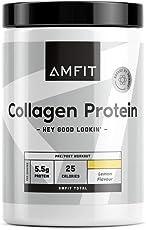 Marchio Amazon - Amfit Nutrition, Collagene, gusto limone, 454 g (precedentemente marchio PBN)