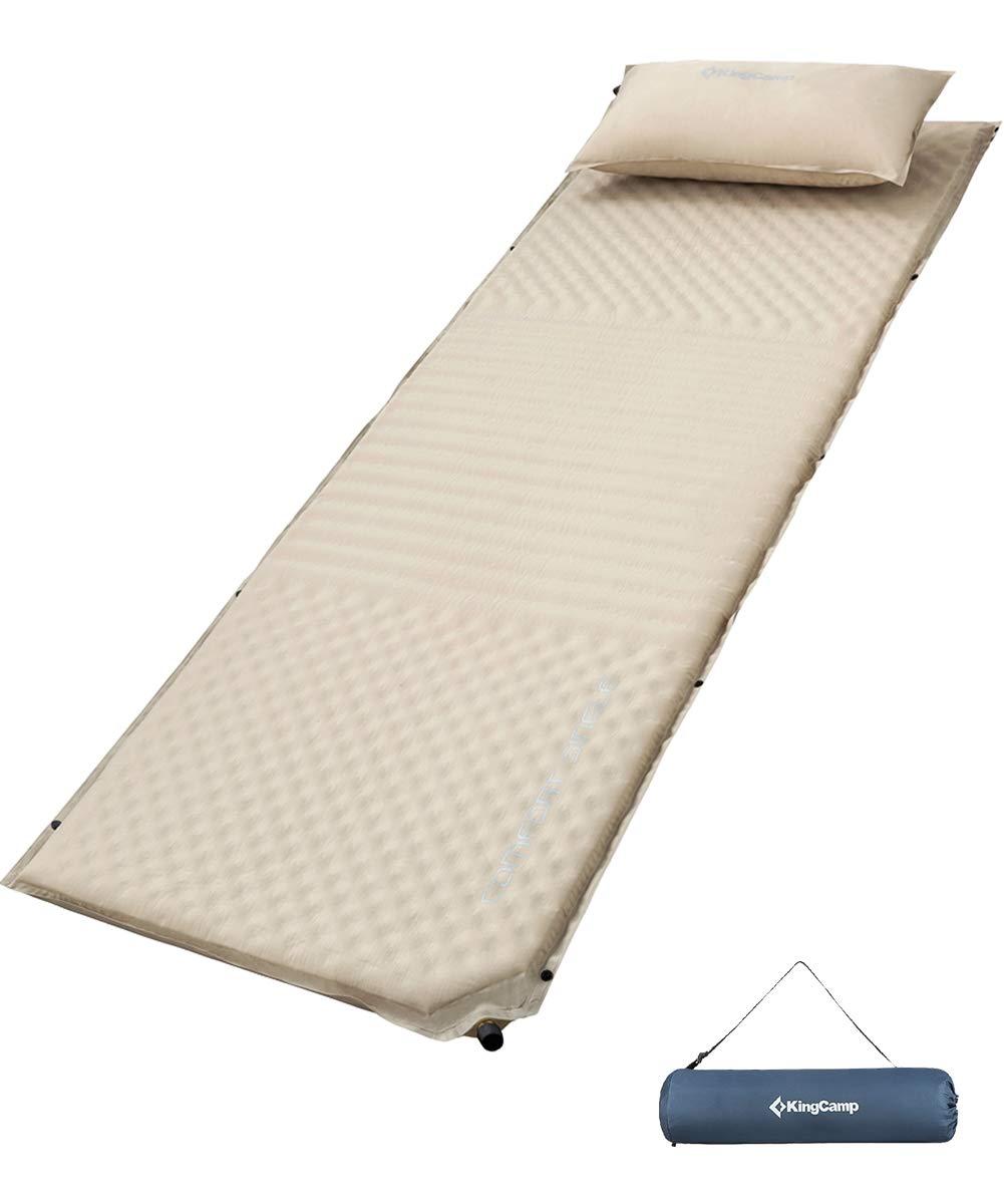 KingCamp Manta de Camping Ultraligera Multifuncional con Saco de Dormir de Emergencia con bot/ón a presi/ón 0.44 kg