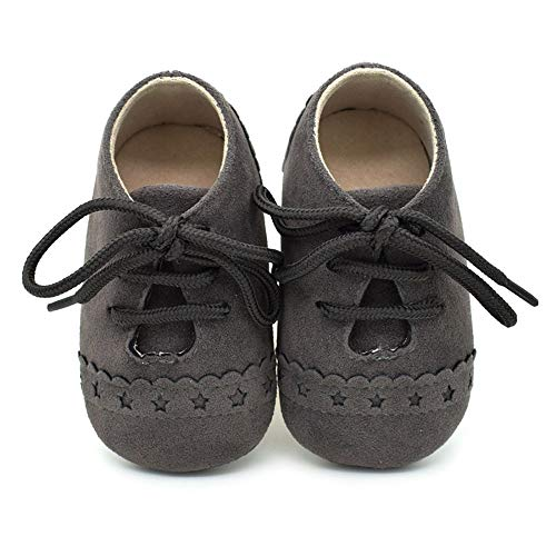 Sunday Babyschuhe Mädchen Jungen Neugeborenen Schuhe Krippeschuhe Krabbelschuhe rutschfest Wanderschuhe für 0-6 Monate 6-18 Monate