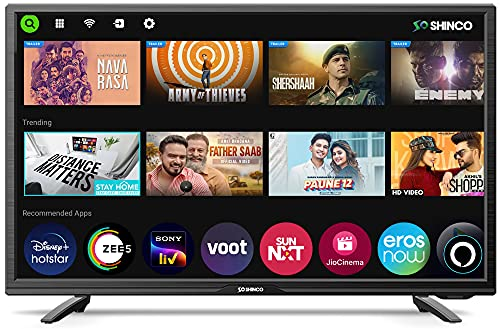 Shinco 80 cm (32 Inches) HD Ready Smart LED TV SO32SF (Black) (2021 Model)   with Alexa Built-in