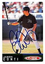 Jason Conti autographed baseball card (Tampa Bay Devil Rays, FT) 2002 Topps Total #311 - Baseball Slabbed Autographed Cards