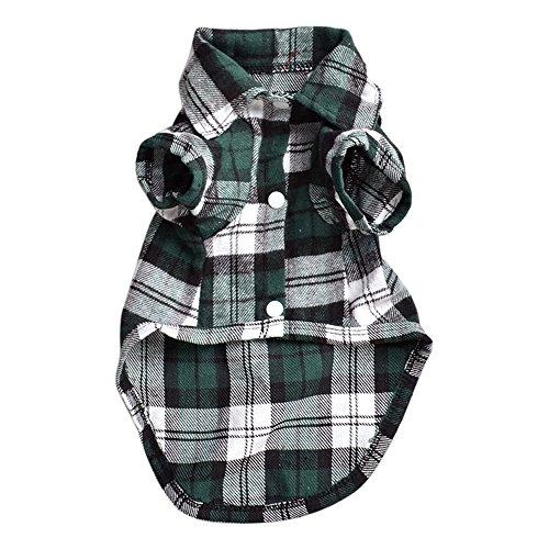 Bodhi2000® Camisa de cuadros para perro - abrigo de mascota - ropa - prendas de vestir.