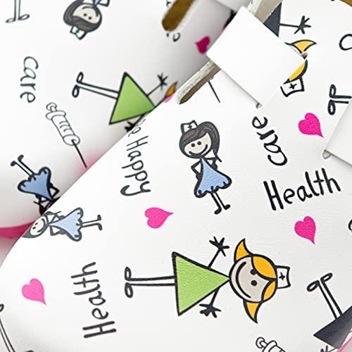 Care. Zueco de fácil Cuidado con Estampado de Enfermera. (38)