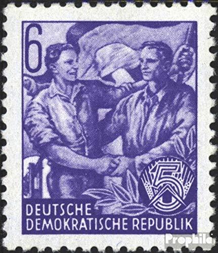 Prophila Collection DDR 364XI, seltenes Wasserzeichen, senkrechte Papierstruktur 1953 Fünfjahresplan (I) (Briefmarken für Sammler)