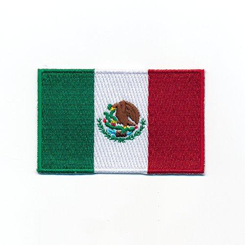 hegibaer 60 x 35 mm Mexico Mexiko Flagge Patch Mexiko-Stadt Flag Aufnäher Aufbügler 0953 B2