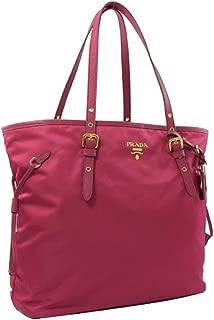 Prada Tessuto Saffiano Ibisco Pink Nylon Leather Shopping Tote Bag 1BG997