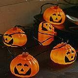 Star Halloween Lichterkette, Plastik, orange, 6 x 210 x 5 cm