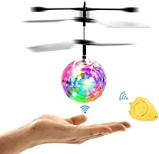 Amazingbuy - RC Flying Ball, Helicopter Ball with Rainbow Shinning LED Lights for Kids, Flying Toy for Boys and Girls