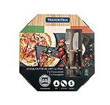 Tramontina 29899-320 Cubertería para pizza (12 piezas, para 6 personas, acero inoxidable, apto para lavavajillas, mango de madera)