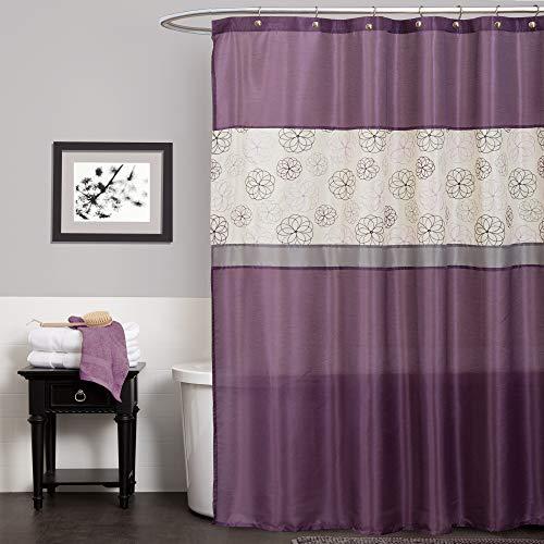 Lush Decor Covina Shower Curtain, Purple
