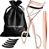 Eyelash Curler Kit (Rose Gold), Premium Lash Curler for Perfect Lashes, Eye Lash Curler with 5 Eyelash Curler Replacement Pads, Universal Eye Lashes Curlers, Eyelash Curler for Women (Box Colors Vary)