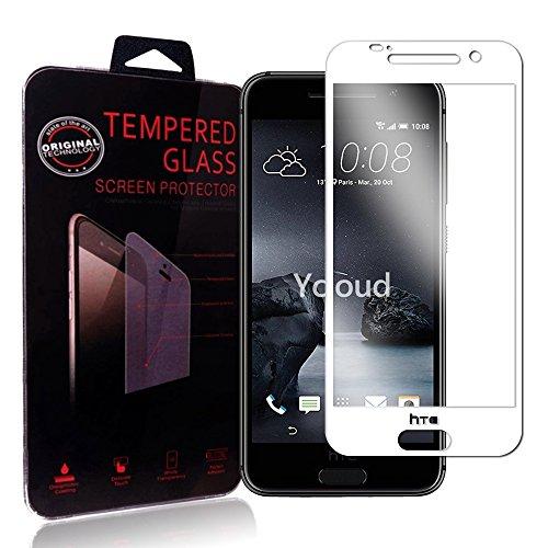Ycloud Protector de Pantalla HTC One A9 , Full Coverage, Anti-huella dactilar, Resistente a los arañazos, Cristal Templado Protector HTC One A9 - Blanco