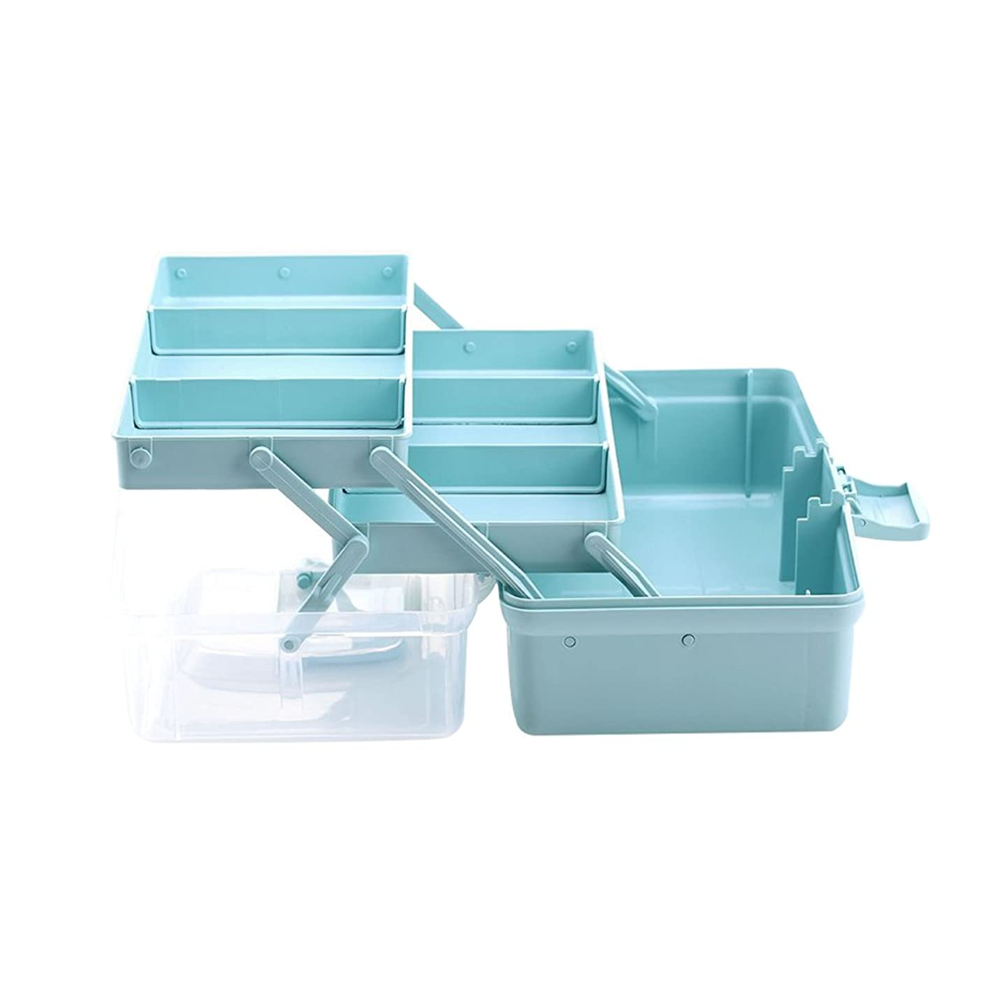 中毒ぐるぐる疑問を超えてYUNCLOS 収納ボックス 工具箱 3段式ツールボックス プラスチック 小物収納ケース 工具収納 折り畳み 便利 大容量 収納ボックス 薬