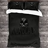 RandShton Andy Biersack Fun Three-Piece Bedding, Two-Piece Pillowcase and Bedroom Duvet Cover, Quilt Cover Size 86 x 70 inches
