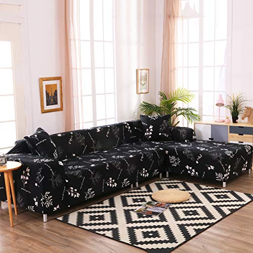 Niedlicher Sofaschonbezug, L-Form, Sofabezug, 2-teilig, teilbar, Sofabezug für Hunde und Katzen (Stolz, 3 + 4 Sitze)