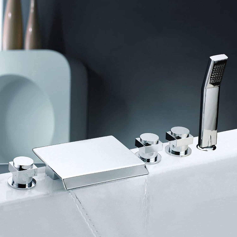 BMY Modern Fashion Chrome High-end Bathroom Shower 5PCS Waterfall Bathtub Faucet