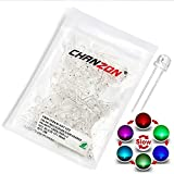 Chanzon 100 pcs 5mm RGB Multicolor Fast Blinking (Multi Color Changing) Straw Hat LED Diode Lights (Clear Transparent Lens) Bright Lighting Bulb Lamps Electronics Components Light Emitting Diodes