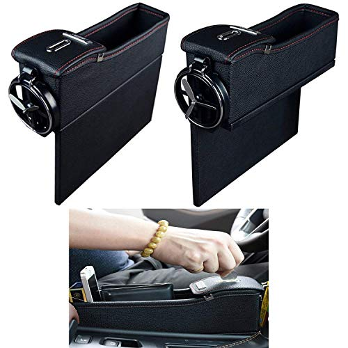 Autozubehör, Tasche, Organizer für Lücke neben dem Sitz, Aufbewahrungsbox, Münzfach, Cupholder, 2 Stück