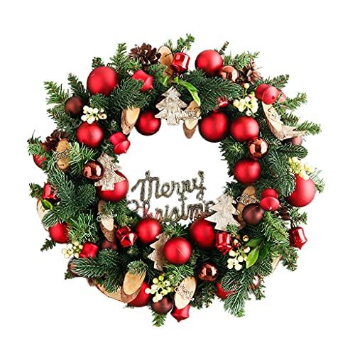 XIN CHANG LWH Guirnalda De Navidad, Pinos Artificiales Home Garden Door Wall Guirnalda Copos De Nieve Guirnalda Decoración De Navidad 45 Cm