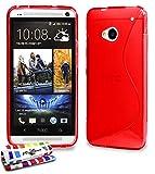 Coque Souple Ultra-Slim HTC ONE / M7 [Le S Premium] [Rouge] de MUZZANO + STYLET et...