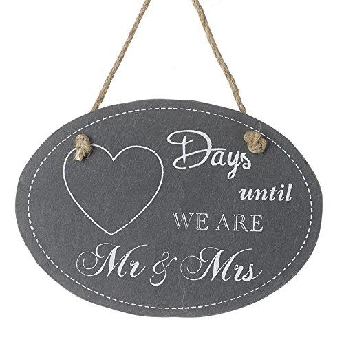 Heaven Sends Countdown-Tafel mit Aufschrift Days Until We Are Mr & Mrs (18 x 13 cm) (Schwarz)