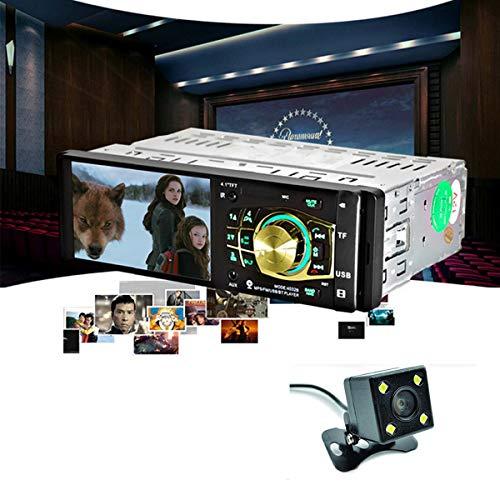 GOFORJUMP 4032B 4,1 Pouces Voiture Lecteur MP5 avec caméra de Vision arrière Soutien Bluetooth Radio Audio vidéo Port USB Roue en Acier télécommande